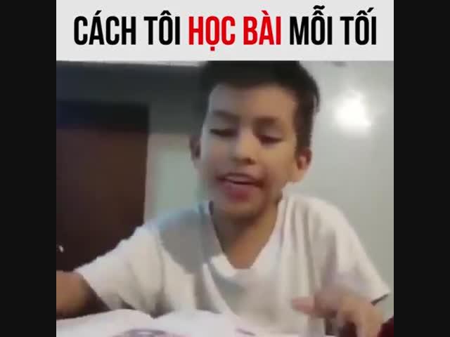 Cách tôi học bài mỗi tối