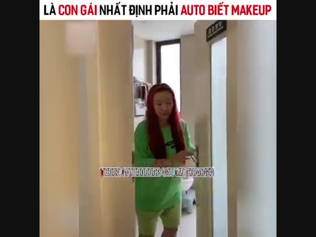 Là con gái auto phải biết make up
