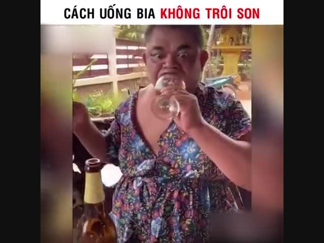 Cách uống bia không trôi son