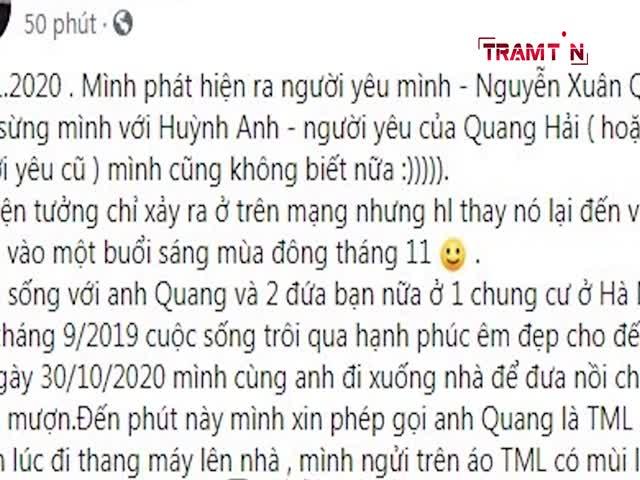 Huỳnh Anh vô tình thừa nhận đã chia tay khi bị tố làm Tuesday, Quang Hải nói gì?