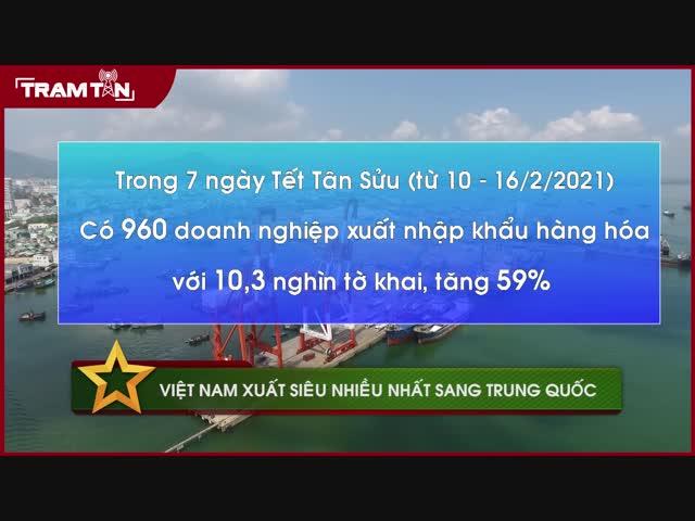 Việt Nam xuất siêu nhiều nhất sang Trung Quốc