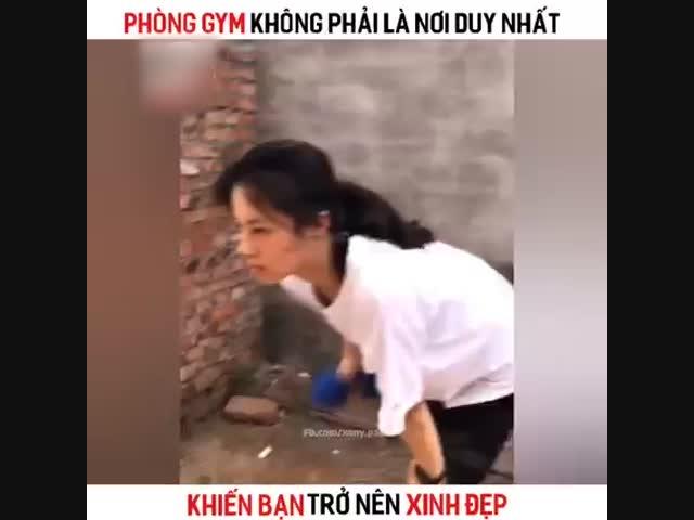 Hot girl tập gym và cái kết