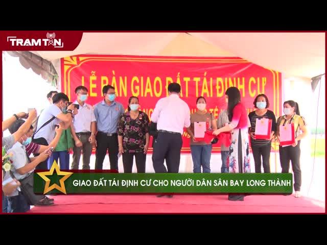 Giao đất tái định cư cho người dân sân bay Long Thành