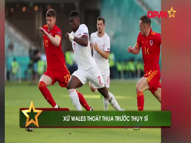 """Bale """"tịt ngòi"""", Xứ Wales may mắn cầm hòa Thụy Sĩ ngày ra quân Euro 2020"""