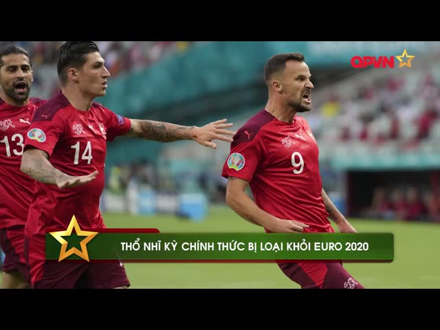 Thổ Nhĩ Kỳ trở thành đội đầu tiên bị loại khỏi Euro 2020