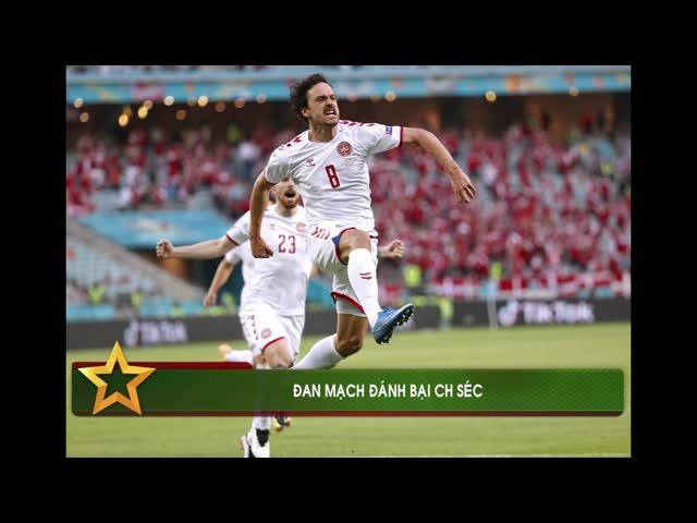 Đánh bại CH Séc, Đan Mạch vào bán kết Euro 2020