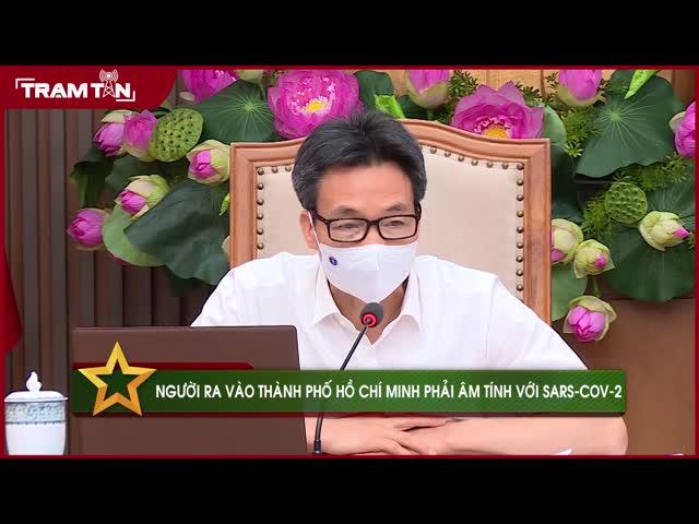 Người ra vào thành phố Hồ Chí Minh phải âm tính với Sars-Cov-2