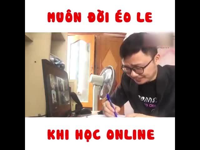 Muôn đời éo le khi học online