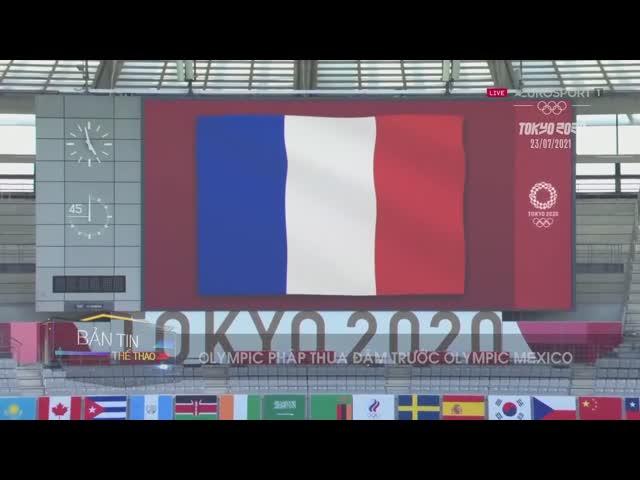 Pháp thua thảm Mexico, Hà Quốc thất bại tại Olympic