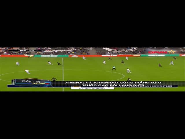 Tottenham và Arsenal đại thắng trước các đội bóng hạng dưới