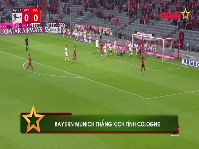 Gnabry hóa người hùng, Bayern Munich thắng kịch tính Cologne
