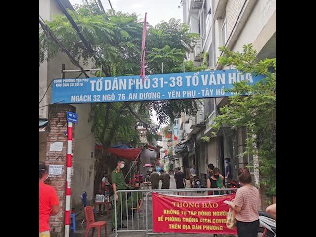 Hà Nội phong tỏa khu dân cư 4.000 dân, xuyên đêm lấy mẫu xét nghiệm!